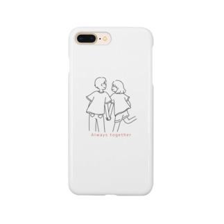 こんイラスト素敵なカップル2 Smartphone cases