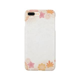 和柄(和み紅葉) Smartphone cases