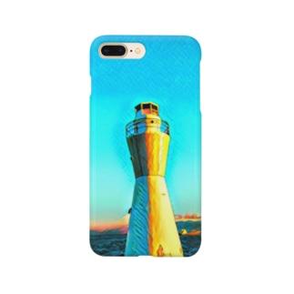 灯台LOVE ブルー Smartphone cases