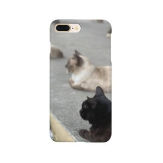 南の島の自由な猫たち Smartphone cases