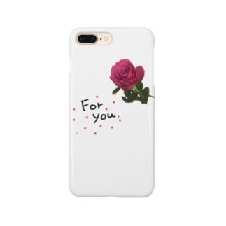 あなたに捧げるお花 Smartphone cases