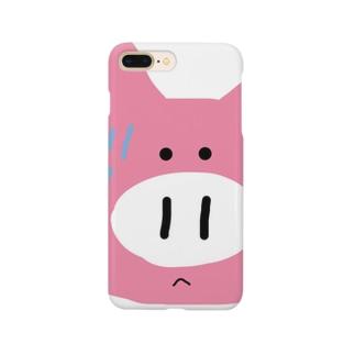 録画をミスって焦る豚ちゃん Smartphone cases