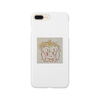 お花の女の子 Smartphone cases
