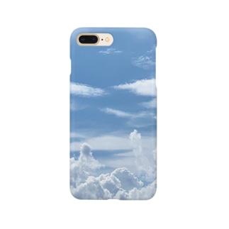 青空、雲、空と雲 Smartphone cases