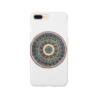 ウズベキスタンの丸模様 Smartphone cases