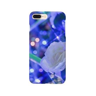 白いバラ Smartphone cases