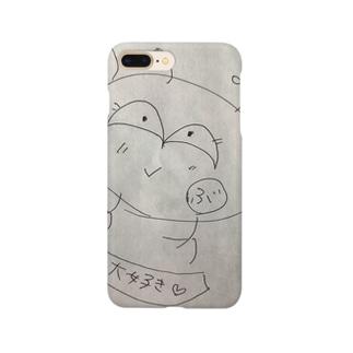 お金大好きキャラ Smartphone cases