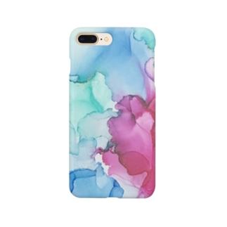 アルコールインクアート Smartphone cases