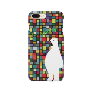シロっクマくん Smartphone cases
