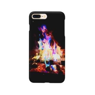 焚き火 Smartphone cases