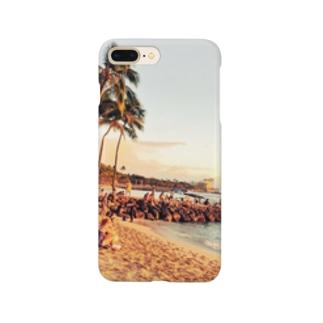 夕焼けの海inハワイ Smartphone cases