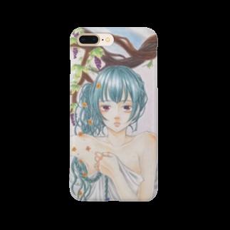 リップを食す者の水彩調美少女 Smartphone cases