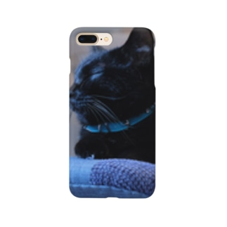 黒猫モクちゃん(お昼寝) Smartphone cases