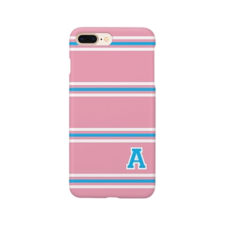 "college""A"" pink×blue Smartphone cases"