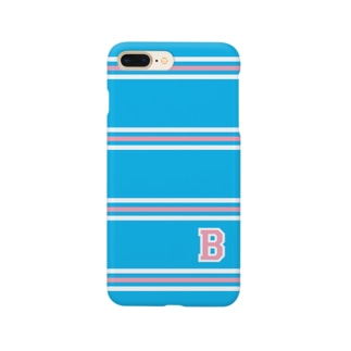 "college""B"" blue×pink Smartphone cases"