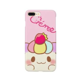 ひょっこりCrème Smartphone cases