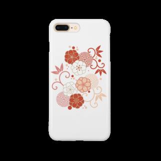 fujiatsuの梅と唐草(赤) Smartphone cases