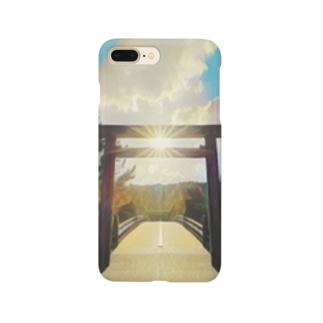 鳥居と橋と天照 Smartphone cases