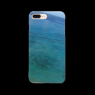 crea0345の青い海 Smartphone cases