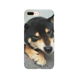 黒柴ちゃん Smartphone cases