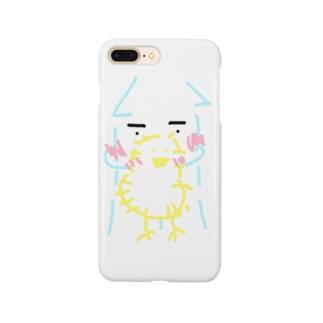 イカくんとヒヨコちゃん Smartphone cases