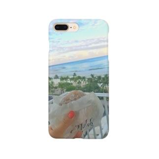 マラサダとワイキキビーチ Smartphone cases