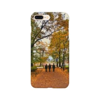 紅葉と3人の警官 Smartphone cases