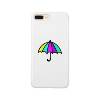 レインボーアンブレラ Smartphone cases