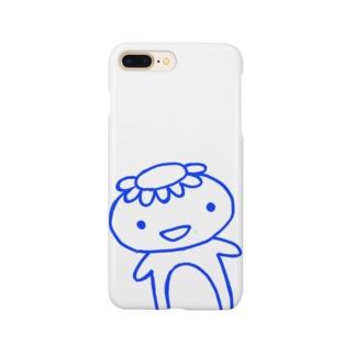 青いかっぱのスマホケース Smartphone cases