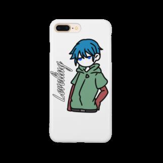 愛紅の青髪の男の子 Smartphone cases