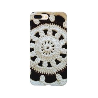 白黒ドイリー Smartphone cases