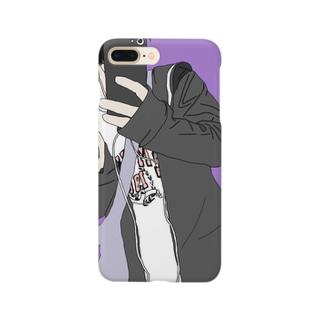 黒髪くん Smartphone cases