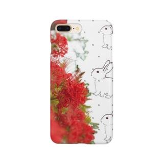 彼岸花+兎+ドット Smartphone cases