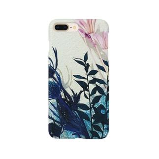くすみカラーのお花たち Smartphone cases