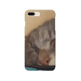 猫の昼寝 Smartphone cases