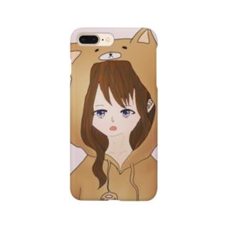 パーカー少女(犬) Smartphone cases