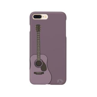 AcousticGuitarスマホカバー【mud red】 Smartphone cases