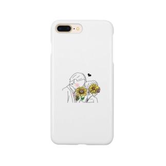向日葵で隠してる Smartphone cases