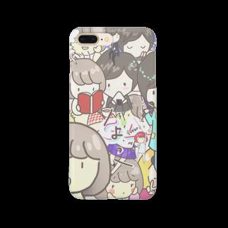 tateto.のぼぶちゃんせっとちゃんがいっぱい Smartphone cases
