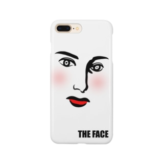 THE FACE 頬紅バージョン Smartphone cases