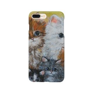 可愛い ねこファミリー Smartphone cases