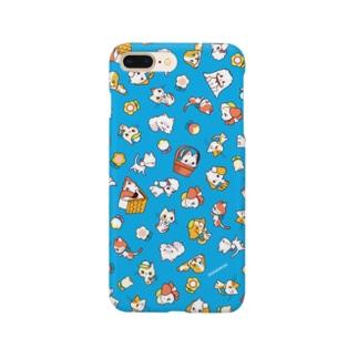 わんにゃん(青) Smartphone cases
