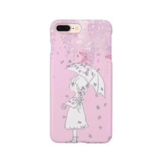 蝶と花 Smartphone cases