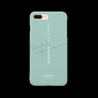 Creators. by Harukana Design.のI'M A ENGINEER. (mint green) - smartphone case Smartphone cases