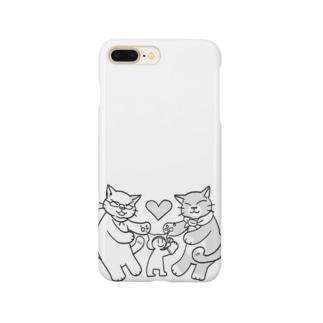 にゃーん Smartphone cases