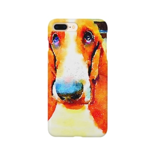 バセットイラスト風 Smartphone cases