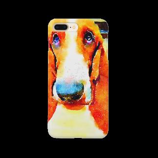 おいら犬組! バセット倶楽部のバセットイラスト風 Smartphone cases