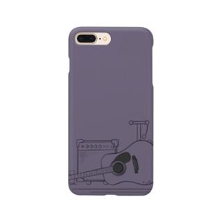 アコースティックギタースマホカバー【mud purple】 Smartphone cases