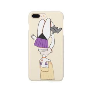 ぶらーんってなって色々見えている女の子 Smartphone cases
