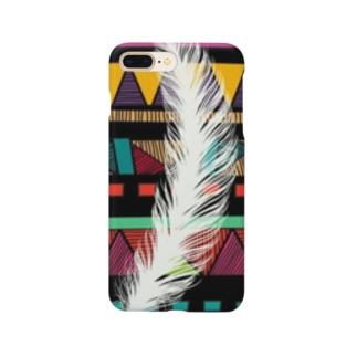 エスニックフェザー Smartphone cases